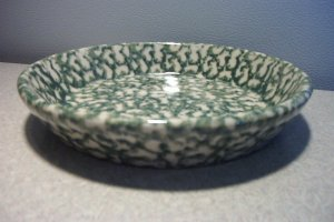 Henn Workshops blue/green double sponged small pasta harvest bowls set of 2