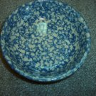 Henn Workshops blue sponged small pasta harvest bowls set of 2