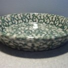 Henn Workshops blue/green double sponged small pasta harvest bowl