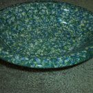 Henn Workshops double blue/green sponged medium oval serving bowl