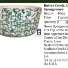 Henn Workshops green sponged butter crock