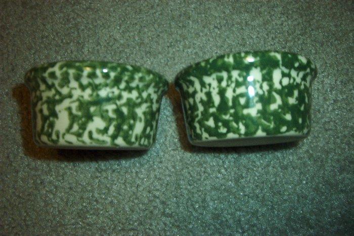 Henn Workshops green sponged ramekin set of 2