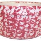 Henn Workshops cranberry sponged butter crock