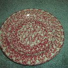 Henn Workshops cranberry sponged luncheon plate set of 2 used
