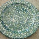 Henn Workshops double blue/green sponged dinner plate