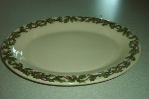 "Gerald E Henn Workshops hollyware 13"" oval platter"