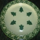 Henn Workshops green sponged salad plates with Christmas trees set of 2