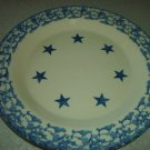 Henn Workshops blue sponged dinner plate with stars