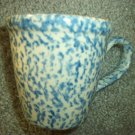 Henn Workshops blue sponged Williamsburg mug