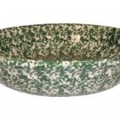 "Henn Workshops green sponged large 13 1/4"" pasta/harvest bowl"