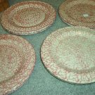 Henn Workshops rose sponged dinner plates set of 2