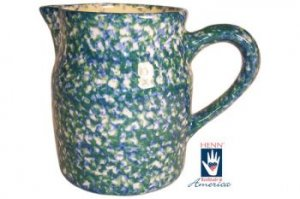 Henn Workshops double blue/green sponge 2 quart pitcher
