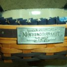 Henn Workshops 4X4 blue sponged baking pan with museum 7th edition fruitwood basket & star liner