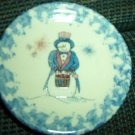 Henn Workshops blue sponged 2004 Uncle Shivers numbered mini collectible plate