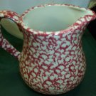 Henn Workshops cranberry sponged museum pitcher