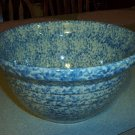 "Gerald E Henn Workshops 12"" blue Sponged mixing bowl hostess used FP stamp"