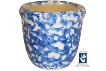 Henn Workshops blue sponged votive cup