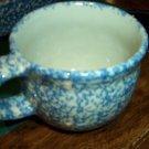 Henn Workshops blue Sponged  soup mug