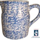Henn Workshops blue sponge 1 quart pitcher