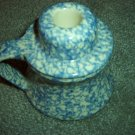 Henn Workshops blue sponged candle holders set of 2