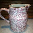 Henn Workshops rose sponge 1 quart pitcher