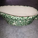 Henn Workshops large green sponged gravy boat