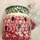 Henn Workshops watermelon cranberry green sponged classic mugs set of 2