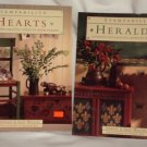 Stampability Hearts and Heraldic By Stewart & Sally Walton Softcover 2Lot Crafts Book
