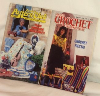 Annies Pattern Club and Crochet Newsletter 2Lot Crafted books Dated 1987 Booklets No�s 27 and 44