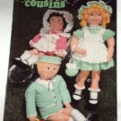 Crochet Cousins Dolls Crochet Doll Pattern Vintage Annie's Attic Booklet 1984