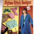 Coats and Clark's Afghan Stitch Designs Booklet No. 162 Red Heart Yarns Pamphlet 1965
