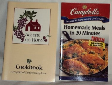 Campbell�s Meals in Minutes 2000 and Accent on Home 1996 Cookbooks Booklets