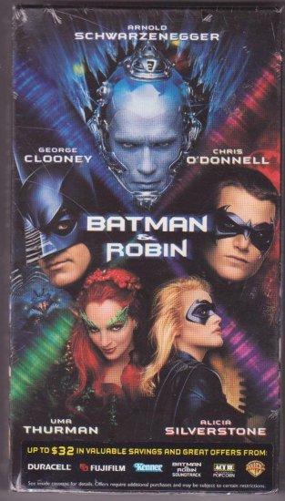 Batman and Robin VHS Video Action Adventure Schwarzenegger Clooney 2001