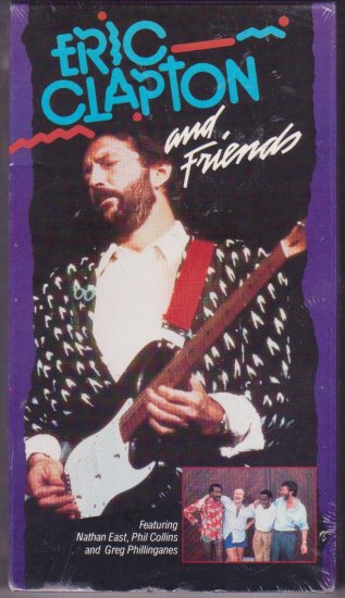 Eric Clapton and Friends VHS Video Phil Collins Live Music Concert Dated 1988