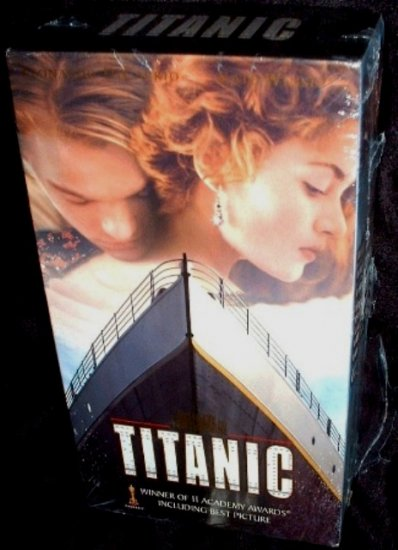 Titanic (1998) VHS Video Dicaprio / Winslet Mint Double Cassette Factory Sealed