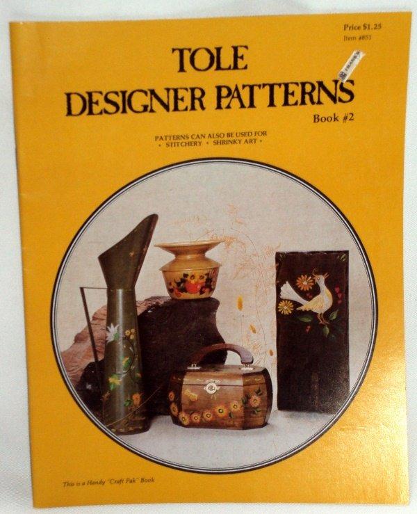 Vintage Tole Designer Patterns Book # 2 by Patty Jackson 1976
