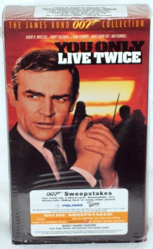 James Bond 007 in Ian Fleming's You Only Live Twice Sean Connery VHS Pre-Owned (1995)