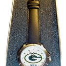 Men's NFL Green Bay Packers Leather Band Watch