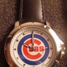 Men's MLB Chicago Cubs Leather Band Watch