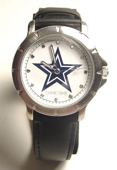 Men's NFL Dallas Cowboys Leather Band Watch