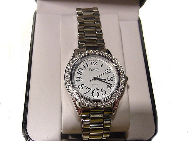 DIAMONIQUE 1ct tw Round Case Bracelet Watch