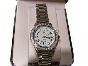 DIAMONIQUE 1ct tw Round Case Bracelet Watch