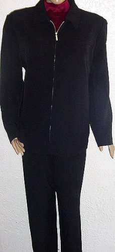 DIALOGUE Black Jacket and Pants SZ 20