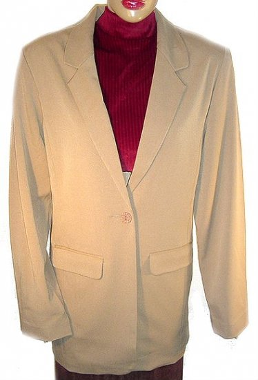 TRAVELSMITH Travel Smith Toffee Blazer L(14-16) NWT