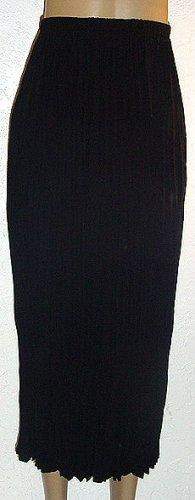 SUSAN GRAVER Black Peachskin Crinkle Skirt SZ 2X