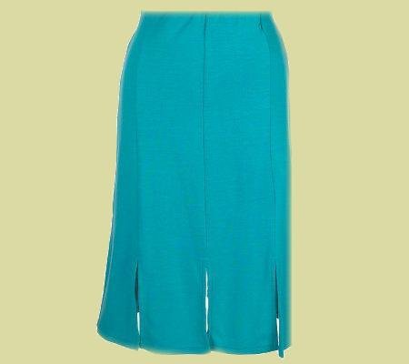 NINA LEONARD Black Pull-on Knit Car Wash Skirt SZ 3X