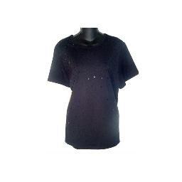 SUSAN GRAVER Black Embellished Crew Neck T-shirt SZ 1X