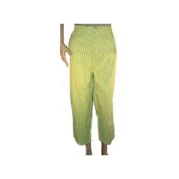 DENIM AND COMPANY Green Stretch 2 Pocket Striped Crop Pants SZ 18