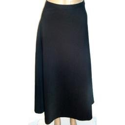 JONES ELEMENTS Black Stretch Solid Fluted Long Skirt SZ 18