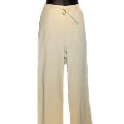 DENIM AND COMPANY Khaki Stretch Denim Pull-on Pants w/ Tab Detail SZ 1X